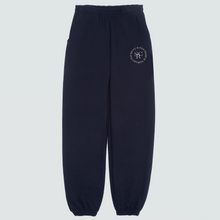 Load image into Gallery viewer, Black Logo Wellness Sweatpants, Black/White Print