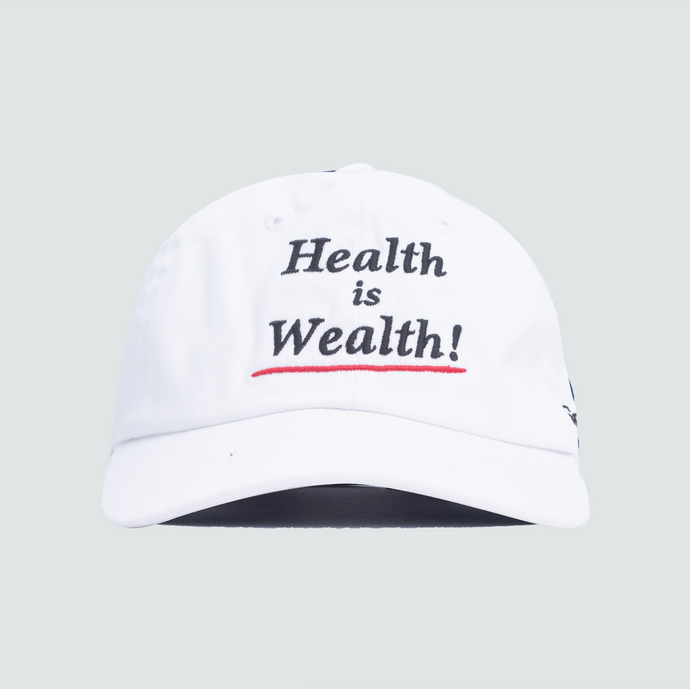 Health is Wealth Hat, White
