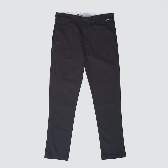 Straight Slim Pant, Almost Black