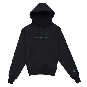 Madison Logo Hoodie, Black/Green