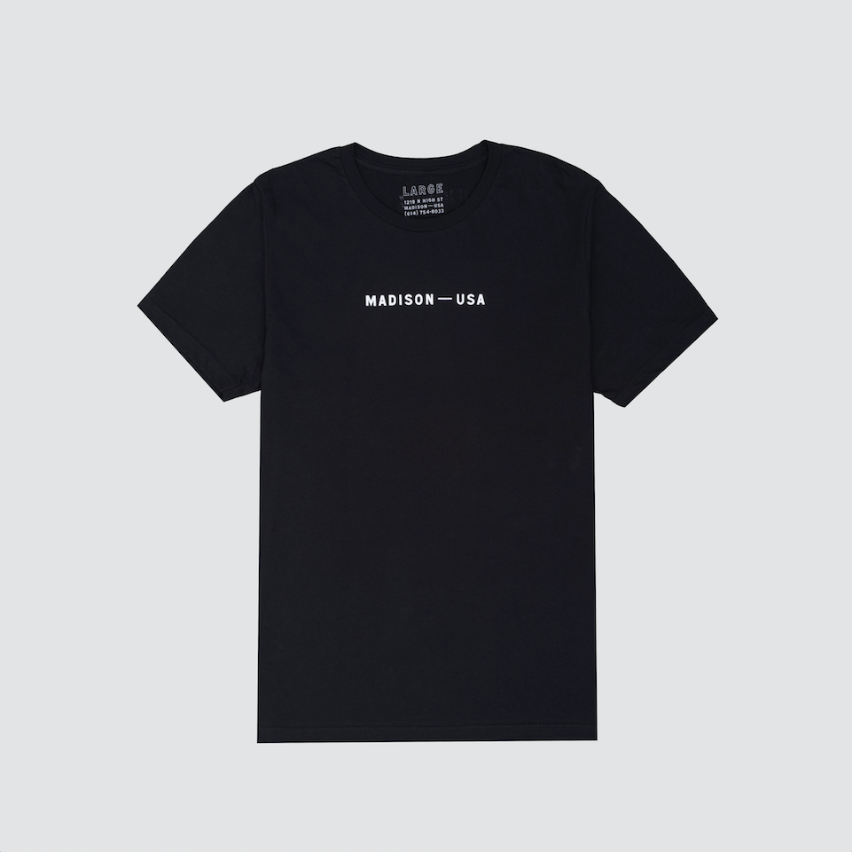 Madison Logo Tee, Black