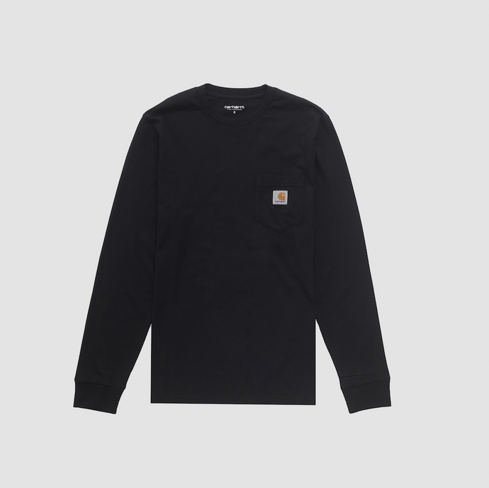 L/S Pocket T-Shirt, Black
