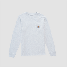 Load image into Gallery viewer, L/S Pocket T-Shirt, Ash Heather
