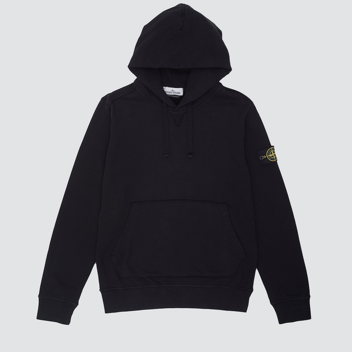 Garment Dyed Popover Hoodie, Black