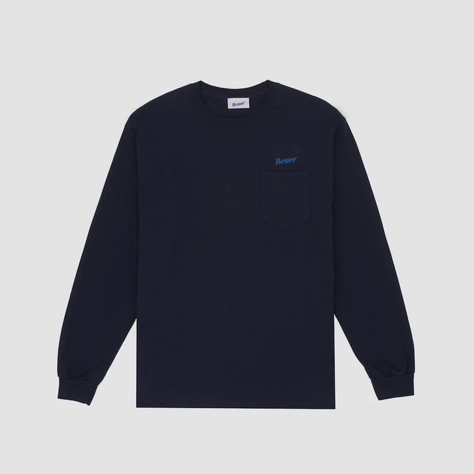 Better Classic Logo Pocket L/S, Navy