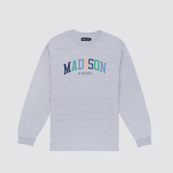 L/S Collegiate T-Shirt, Grey