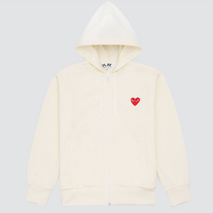 CDG Play Sweatshirt, Ivory