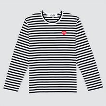 Load image into Gallery viewer, Play Striped T-Shirt, Black / White