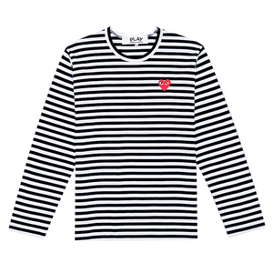 Women's Play Striped T-Shirt, Black / White