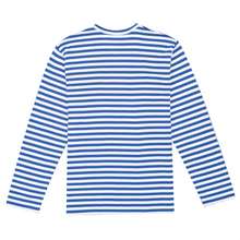 Load image into Gallery viewer, Play Striped T-Shirt, Blue / White