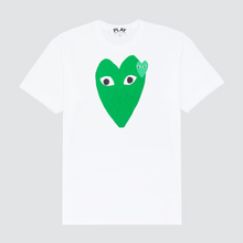 Load image into Gallery viewer, Green Play Embroidered T-Shirt , White