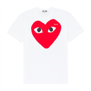 Red Play Embroidered T-Shirt , White