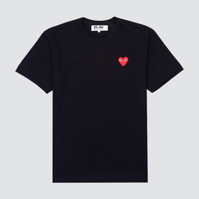 Red Play T-Shirt, Black