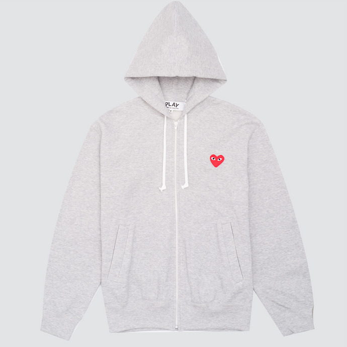 CDG Play Sweatshirt, Grey