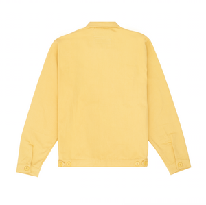 Zip Front Oversized Shirt, Muted Yellow