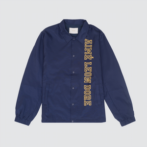Nylon Coach Jacket, Navy
