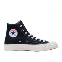 Load image into Gallery viewer, CDG Play Half Heart Converse 1970 Hi, Black