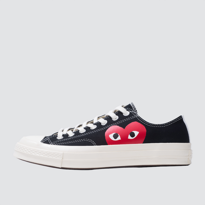 CDG Play Half Heart Converse 1970 Lo, Black