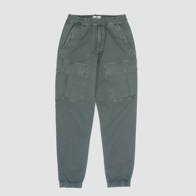 'Old' Dye Treatment Cargo Pants, Petrolio