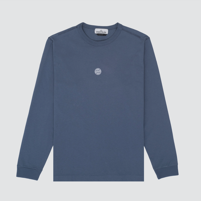 'Graphic Five' Long Sleeve T-Shirt, Avio Blue