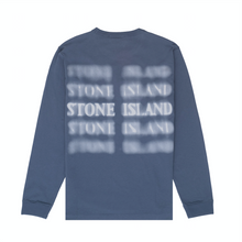Load image into Gallery viewer, 'Graphic Five' Long Sleeve T-Shirt, Avio Blue