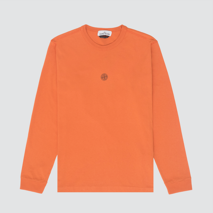'Graphic Five' Long Sleeve T-Shirt, Orange