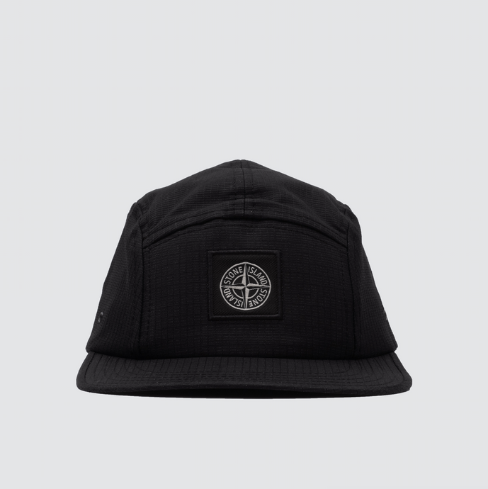 99094 Reflective Weave Ripstop 5 Panel Cap, Black