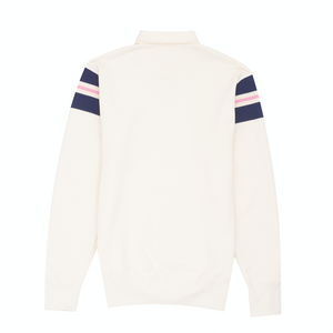 Terry Ribbed Shoulder Rugby, Cream