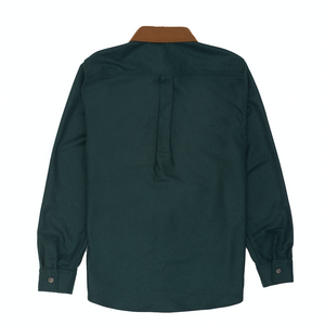 Woolrich Moleskin Button Down, Green