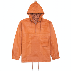 Chesterfield Leather Anorak Jacker, Cognac