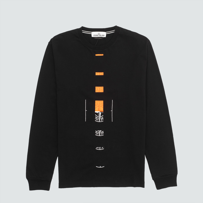 2ML90 Offset L/S T-Shirt, Black