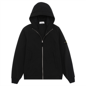 40927 Soft Shell Hooded Jacket, Black