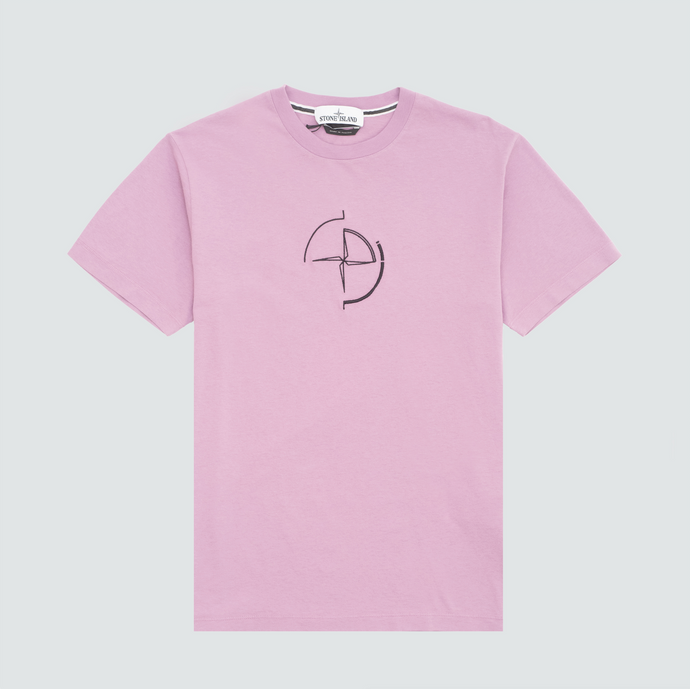 2NS89 Data Scan T-Shirt, Rose Quartz