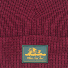 Load image into Gallery viewer, ALD Waffle Knit Beanie, Red Wine