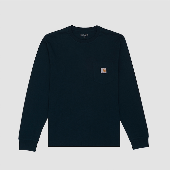 L/S Pocket T-Shirt, Duck Blue