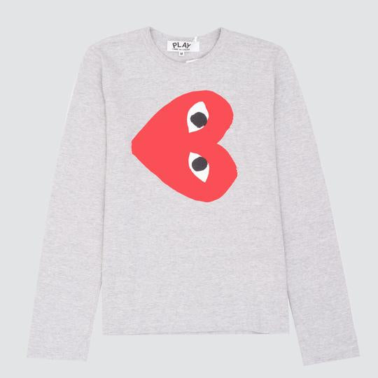 Play Red Heart L/S, Grey