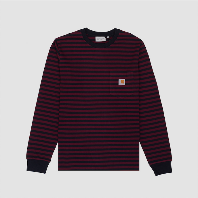 L/S Haldon Pocket T-Shirt, Dark Navy