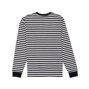 L/S Haldon Pocket T-Shirt, Black / White