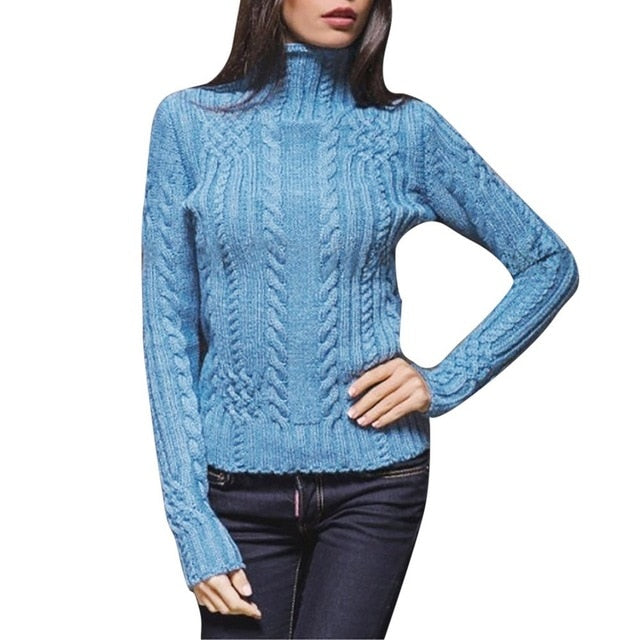 Women Turtleneck Bottoming Sweater Long Sleeve