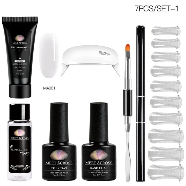 Poly UV Gel Set Nail Gel Kit