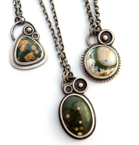 Assorted Ocean Jasper Orbital Pendant (Qty. 1)