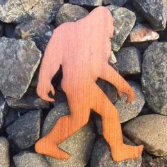 Bigfoot Redwood Laser Cut Sticker (Qty. 6)