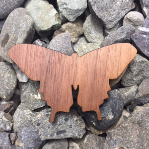 Butterfly Walnut Laser Cut Sticker (Qty. 6)