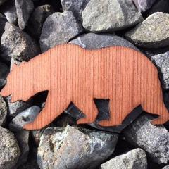 Cali Bear Redwood Laser Cut Sticker (Qty. 6)