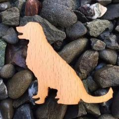 Dog Retriever Beech Laser Cut Sticker (Qty. 6)