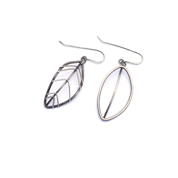Asymmetric Wire Cage Leaf Dangles (Qty. 1 Pair)