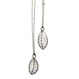 Large Wire Cage Leaf Pendant (Qty. 1)