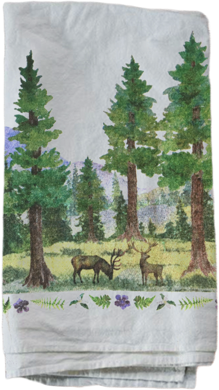 Elk in Redwoods (Qty. 2)