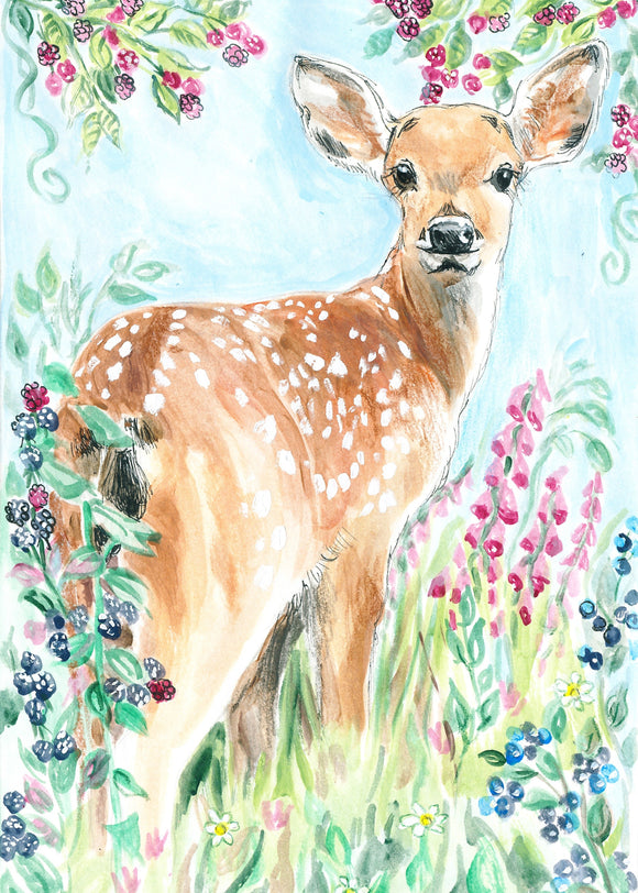 Fawn in the Berries (Qty. 6)
