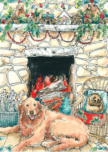 Golden in Front of the Fire (Qty. 6)